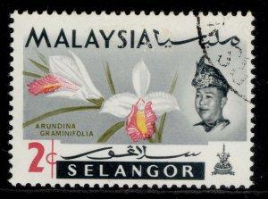 MALAYSIA - Selangor QEII SG137, 2c, USED.