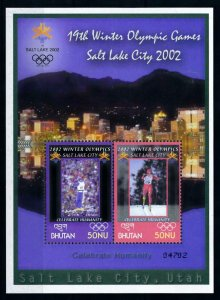 [101503] Bhutan 2002 Olympic winter games Salt Lake City freestyle Sheet MNH