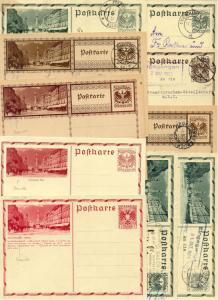 Austria 20 cards,1928-37,postal stat.