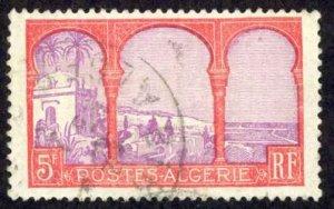 Algeria Sc# 65 Used (a) 1926-1939 5fr Definitives