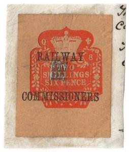 (I.B) QV Revenue : Railway Commissioners 2/6d