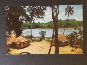 1961 Papeete Tahiti to Oxnard California USA Punauia Village RPPC Postcard Cover