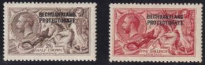 Bechuanaland 1913-1924 SC 92a-93a MLH De La Rue Printings