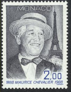 MONACO 1988 MAURICE CHEVALIER Actor Issue Sc 1636 MNH