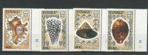 Tuvalu 1991 Sea Shells Overprinted Specimen UMM SG 597/600