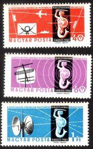 1961, Hungary, MNH set, Sc 1389-91