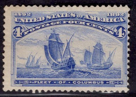 US Stamp #233 4c Columbian MINT Hinged SCV $50