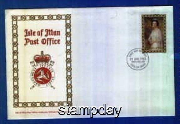 ISLE OF MAN 1985 5 POUND FACE VALUE 10$ FDC 1221MK