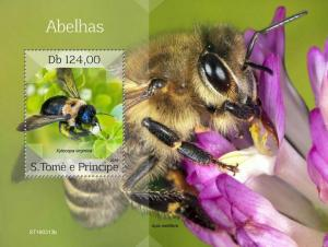 Z08 ST190313b Sao Tome and Principe 2019 Bees MNH ** Postfrisch