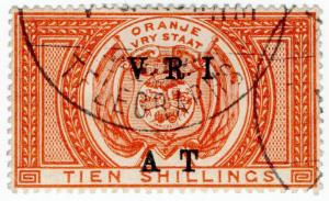 (I.B) Orange River Colony Army Telegraphs : 10/- Orange (Boer War cancel)
