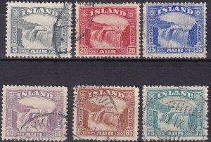 Iceland #170-75  F-VF  Used CV $52.60 (Z6460)