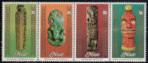 Niue 1980 MH Sc #268 Strip of 4 35c Artifacts, Handcrafts