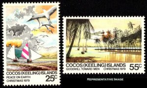 Cocos Islands Scott 51-52 Mint never hinged.