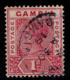 GAMBIA Scott 21 Used 1898  Queen Victoria stamp