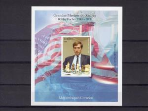 Mozambique 2008 Chess Boby Fischer 1943-2008 SS Imperf.MNH