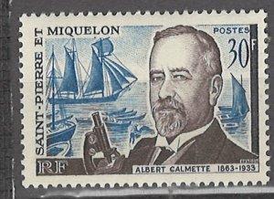COLLECTION LOT # 3122 SAINT PIERRE & MIQUELON #366 MNH 1963 CV+$10