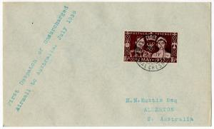 (I.B) George VI Postal : Australia Unsurcharged Air Mail Cover (1938)
