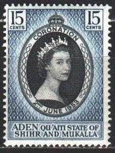 South Arabia. 1953. 28. Queen Elizabeth 2 of Great Britain. MNH.