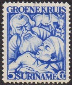Suriname 1929 5c+3c blue (Green Cross Fund) MH
