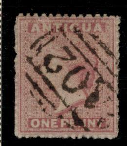 Antigua Stamp Scott #2, Used - Free U.S. Shipping, Free Worldwide Shipping Ov...