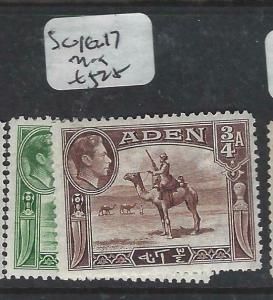 ADEN  (P0406B)  KGVI  1/2A, 3/4A  SG 16-7   MOG
