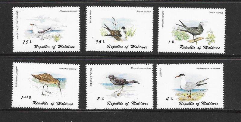 BIRDS - MALDIVES #861-6   MNH