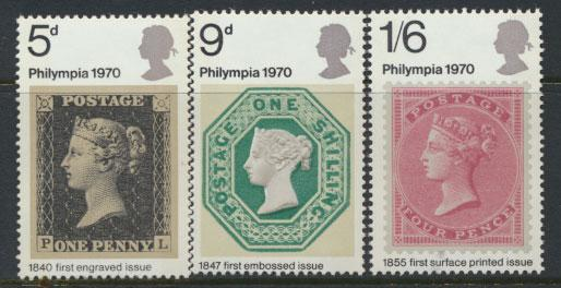GB QE II Mint Never Hinged  SG 835 - 837 set