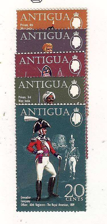 Antigua, 262-66, Military Uniforms, Singles, MNH