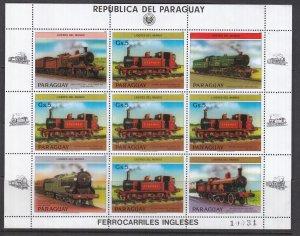 Paraguay, Sc 2125, MNH, 1984, Locomotives