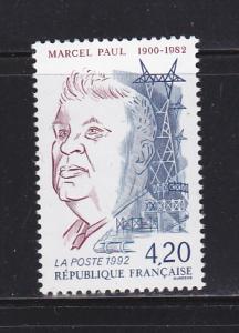 France 2313 Set MNH Marcel Paul, Minister of Industrial Prod