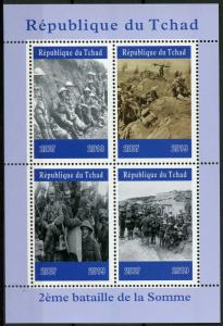 Chad Military Stamps 2019 MNH WWI WW1 2nd Battle of Somme First World War 4v M/S