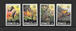 SEYCHELLES #479-82  FLYING FOXES  MNH