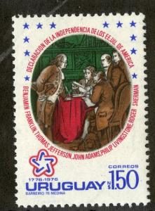 URUGUAY 943 MNH SCV $2.75 BIN $1.40 USA DECLARATION OF INDEPENDENCE
