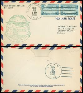 FAM 14-1b SAN FRAN to GUAM, First Day Cover FDC, SCOTT AIRMAIL #C20, SCV $35.00!