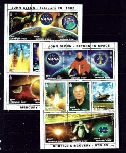 Mongolia 2355-56 MNH 1998 John Glenn Space sheets