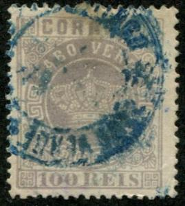 Cape Verde SC# 7 Portuguese Crown 100r, Used