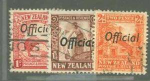 New Zealand O62-O64 Used VF