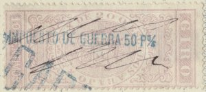 ESPAGNE / SPAIN / ESPAÑA 1875 Fiscal (GIRO) 10 cent. sobrecarga IMPto de GUERRA
