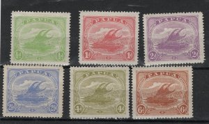 Papua single colour issue (1911), 6 stamps, mounted mint