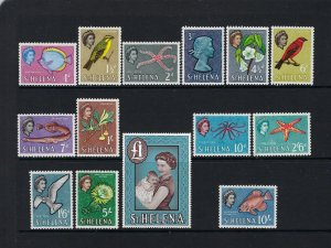 ST HELENA SCOTT #159-72 1961 QEII COMPLETE SET- MINT LIGHT HINGED