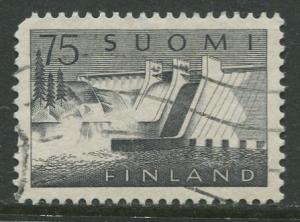 Finland - Scott 363 - Power Station -1959- Used - Single 75m Stamp