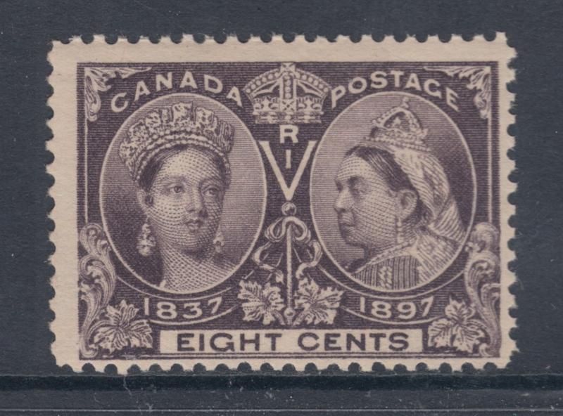 Canada Sc 56 MNH. 1897 8c dk violet QV Jubilee Fine+