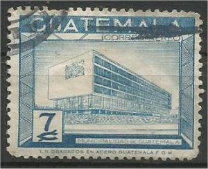 GUATEMALA, 1964, used 7c, City Hall, Scott C282
