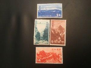 ICOLLECTZONE Japan 561-564 VF Hinged