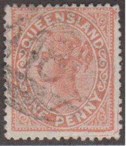 Queensland - Australia Scott #57 Stamp - Used Single