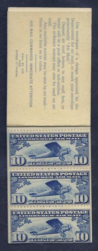 BKC1 MNH  10c. (C10) Lindberg Booklet, scv: $130+