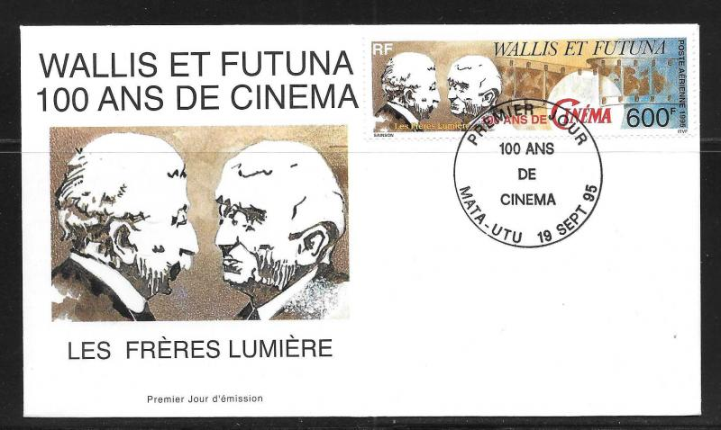 Wallis and Futuna Islands C186 100th Motion Pictures FDC