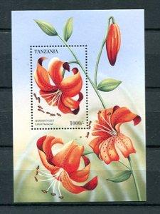 Tanzania Mini sheet Flowers Lily  MNH 8876