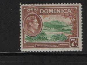 DOMINICA 105 Hinged, 1938-47 Fresh-Water Lake