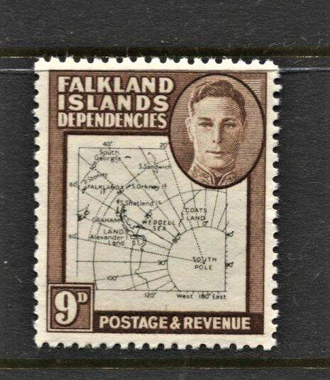 STAMP STATION PERTH -Falkland Is.Dep.#1L7 MNH OG VF Thin Maps CV$40 ( Set CV$130